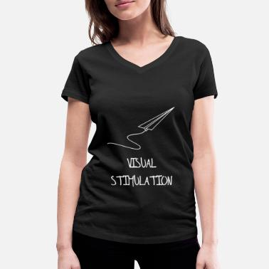 Stimulation visual stimulation - Women's Organic V-Neck T-Shirt