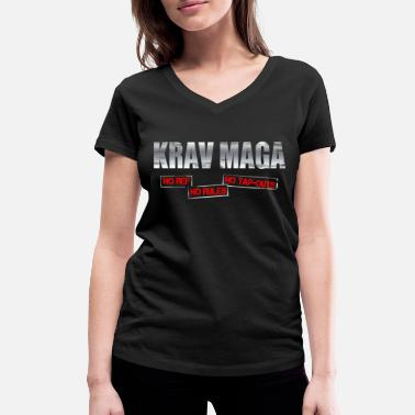 Tap Out Krav Maga No Ref No Rules No Tap-Outs - Women's Organic V-Neck T-Shirt