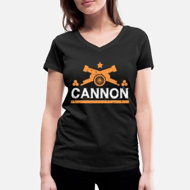 Cannonball Cannon gift cannonball fortress - Women's Organic V-Neck T-Shirt