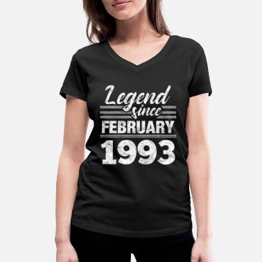 Date 1993 year of birth Bday - Women's Organic V-Neck T-Shirt