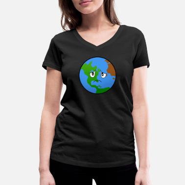 Pollution Earth Planet Climate Protection Pollution - Maglietta con scollo a V donna