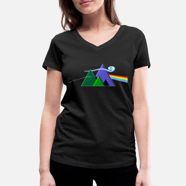 Prog Rock Dark Side Of The Mountains - Frauen Bio T-Shirt mit V-Ausschnitt