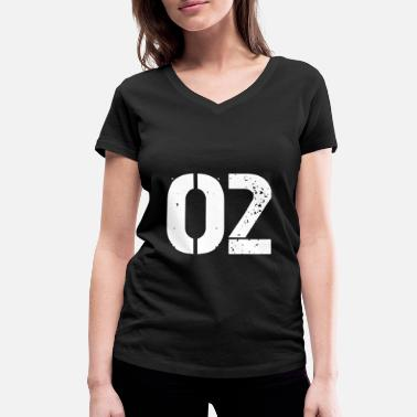 Jersey Number 02 jersey jersey number - Women's Organic V-Neck T-Shirt