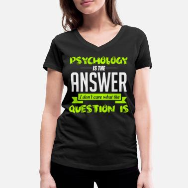 Psychology psychology - Women's Organic V-Neck T-Shirt