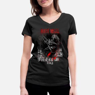 Heavy Metal Heavy Metal - Women's Organic V-Neck T-Shirt