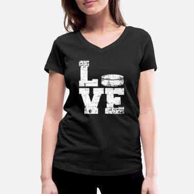 Coach Love Field Hockey Coach Sport Athlete Team Game - Women's Organic V-Neck T-Shirt