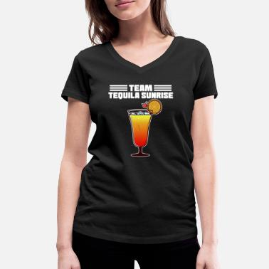 Tequila Sunrise Cocktail Tequila Sunrise Funny Team Drink - Women's Organic V-Neck T-Shirt