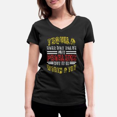 Cube Tequila did not solve any problems worth trying - Women's Organic V-Neck T-Shirt