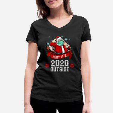 Funny Ugly Christmas Sweater 2020 - Women's Organic V-Neck T-Shirt