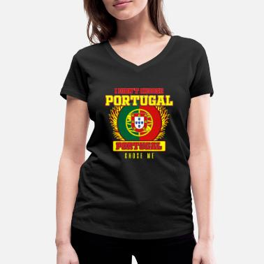 Portugal Portugal - Women's Organic V-Neck T-Shirt