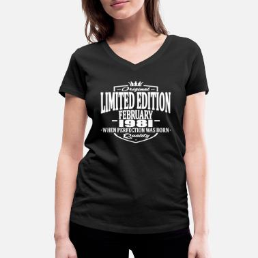 February Limited edition february 1981 - Women's Organic V-Neck T-Shirt