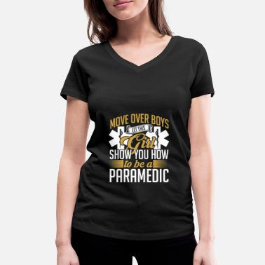 Medication Paramedic medical assistant Samaritan first aid - Women's Organic V-Neck T-Shirt