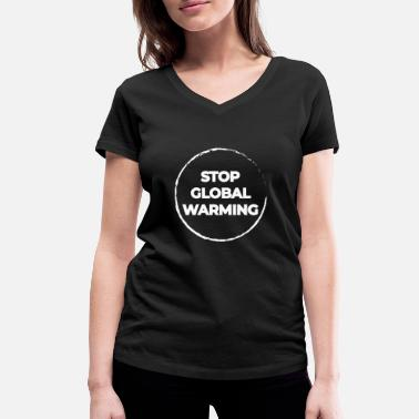 Global Global warming - Women's Organic V-Neck T-Shirt