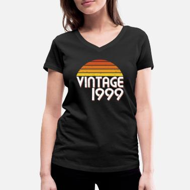 Established 20th Birthday 20 Years Vintage Since 1999 Gift - Women's Organic V-Neck T-Shirt