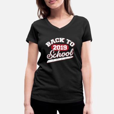 Back To School Back to School - Frauen Bio T-Shirt mit V-Ausschnitt