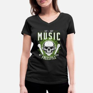 Rap Camiseta Hip Hop Rap Freestyle Battle para regalo - Camiseta con cuello de pico mujer