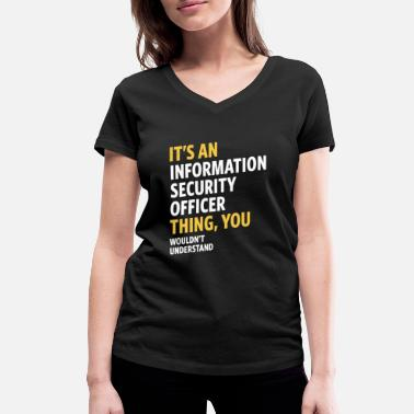 Information Information Security Officer - Women's Organic V-Neck T-Shirt