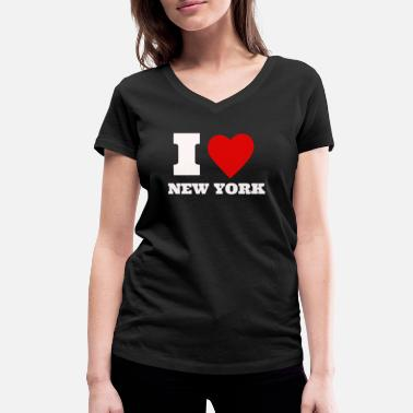 I Love New York I Love New York Cool Heart Geschenkidee - Vrouwen V-hals bio T-shirt