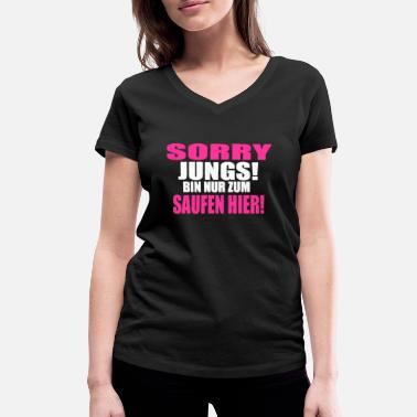 Jungs girls just wanna have fun - Frauen Bio T-Shirt mit V-Ausschnitt