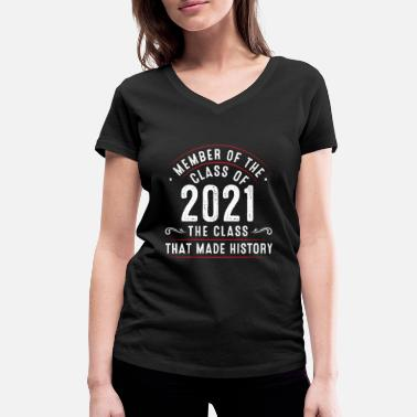 Member of the class from 2021 - Women's Organic V-Neck T-Shirt