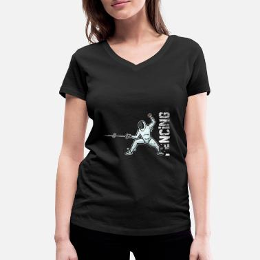 Us Fencing gift - Women's Organic V-Neck T-Shirt