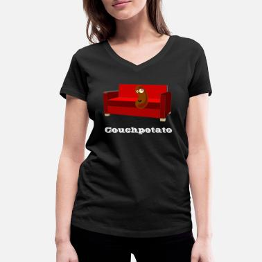 Couchpotato Couchpotato Couch Potato - Frauen Bio T-Shirt mit V-Ausschnitt
