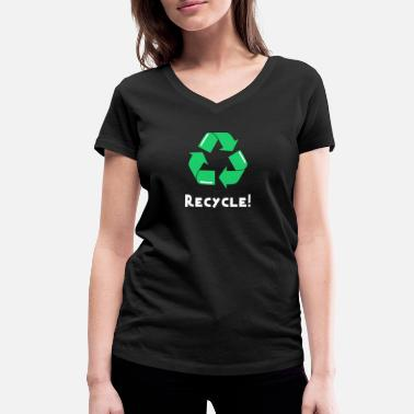 Die Plastic Waste Plastic Waste Recycle Planet Earth Garbage - Women's Organic V-Neck T-Shirt