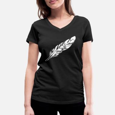 Feathered Animal feather - Women's Organic V-Neck T-Shirt