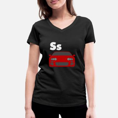 Car alphabet S - Women's Organic V-Neck T-Shirt