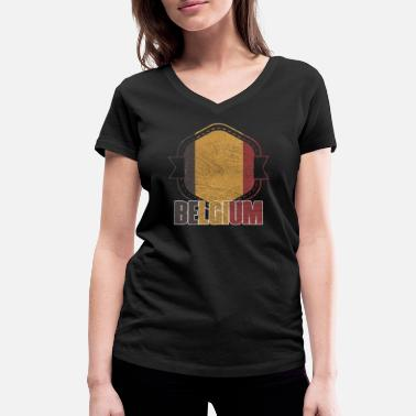 National Colours Belgium national colors nation - Women's Organic V-Neck T-Shirt
