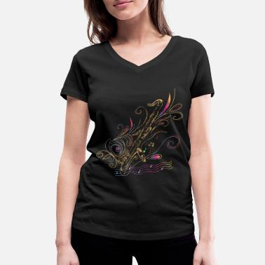Concert Bass clarinet gift idea - Women's Organic V-Neck T-Shirt