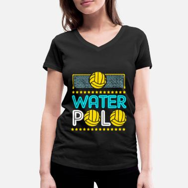 Volley Water Polo Team Player Swimming Water Sports - Women's Organic V-Neck T-Shirt