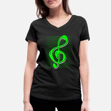 Treble Clef treble clef - Women's Organic V-Neck T-Shirt