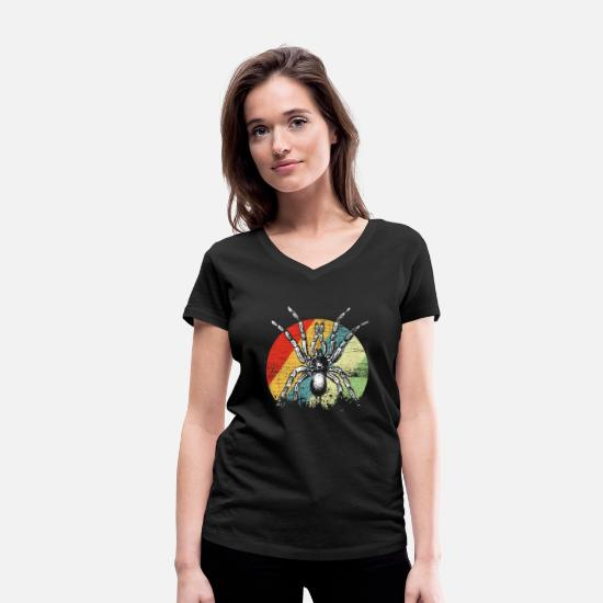 Toxic T-Shirts - spider - Women's Organic V-Neck T-Shirt black