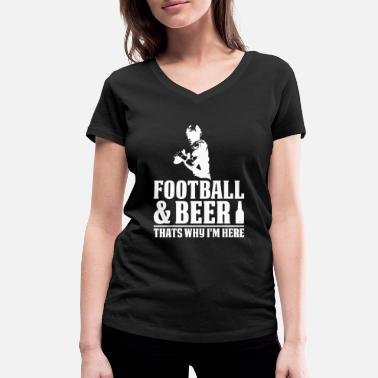 Football Cool Football Design For Beer Drinkers On Sunday - Women's Organic V-Neck T-Shirt