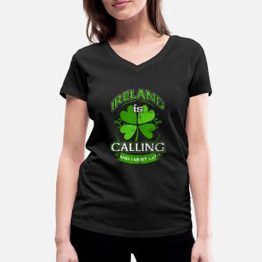 Irlanda Irlanda - Maglietta con scollo a V donna 47c84fba0f5