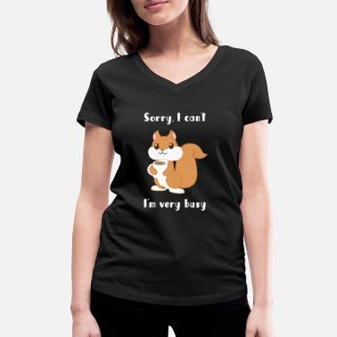 Squirrel Squirrel - squirrel fan - squirrel - Women's Organic V-Neck T-Shirt