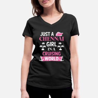 India Chennai India cruise - Women's Organic V-Neck T-Shirt