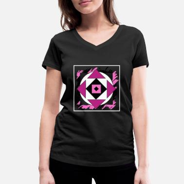 Form Pink abstract art - Women's Organic V-Neck T-Shirt