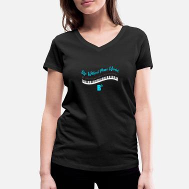 Piano Piano - Piano - Music - Shirt - Women's Organic V-Neck T-Shirt