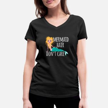 Clam Funny Mermaid Mermaid Ladies Girl Costume - Women's Organic V-Neck T-Shirt