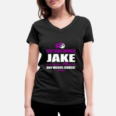 Jake I love my JAKE - cadeau - T-shirt bio col V Femme