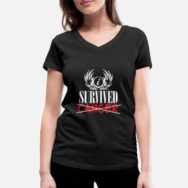 Survived I survived the cancer - Women's Organic V-Neck T-Shirt