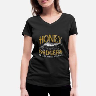 Honey honey badger - Women's Organic V-Neck T-Shirt