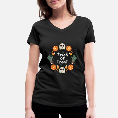 Treat Trick or Treat / Trick or Treat - Women's Organic V-Neck T-Shirt