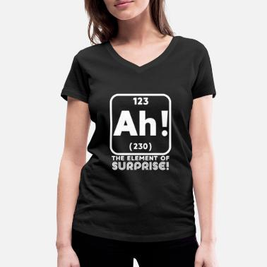 Element Ah Element Surprise T-Shirt Gift - Women's Organic V-Neck T-Shirt