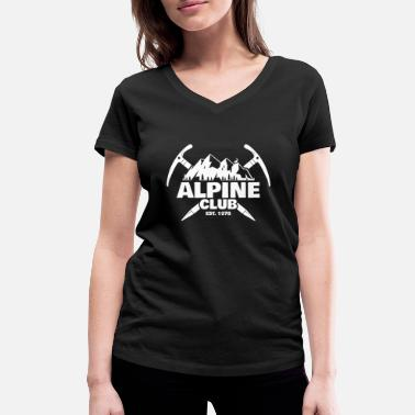 Alpine Club Retro Alpine Club Design - Klatring Rock Climbing - T-shirt med V-udskæring dame