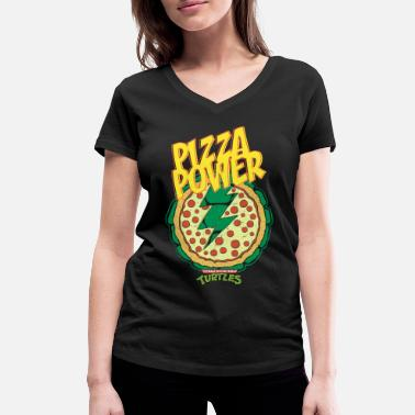 Tortues Ninja Pizza Power Carapace - T-shirt bio col V Femme