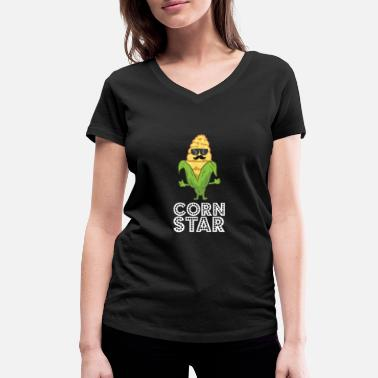 Sunglasses Funny Corn Star With Sunglasses Gift For Corn - Women's Organic V-Neck T-Shirt