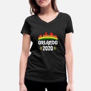 Vacation City Trip 2020 Orlando America - Women's Organic V-Neck T-Shirt